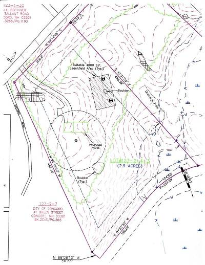 Concord Residential Lots & Land For Sale: 20 Tallant Road