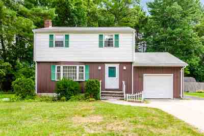Merrimack Single Family Home Active Under Contract: 9 Woodland Drive