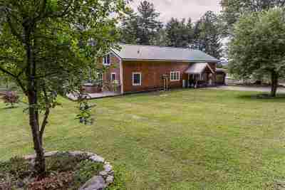 Fairlee Single Family Home For Sale: 299 Brackett Road