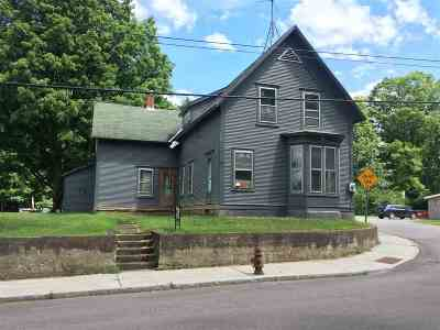 Morristown VT Single Family Home For Sale: $89,900