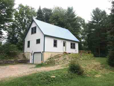 Eden VT Single Family Home For Sale: $159,900