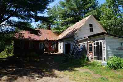 Calais Single Family Home For Sale: 1186 Vt Rte 14
