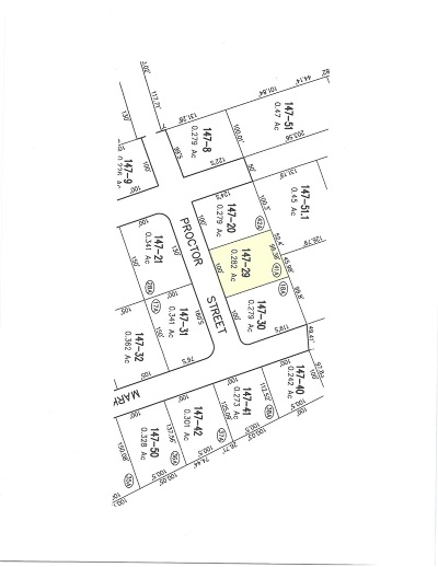 Franklin Residential Lots & Land For Sale: Proctor Street