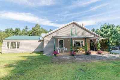 Waterbury Single Family Home For Sale: 2161 Waterbury Stowe Road