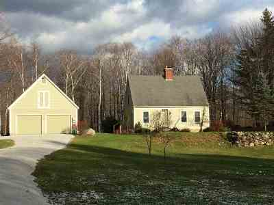 Chittenden Single Family Home For Sale: 184 Middle Road