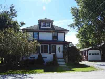 Rutland City VT Single Family Home For Sale: $185,000