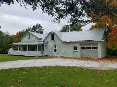 Leicester Single Family Home For Sale: 376 Route 7