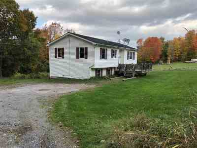 Fairfax VT Single Family Home For Sale: $199,900