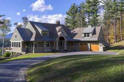 Stowe Single Family Home For Sale: 201 Taber Hill Road