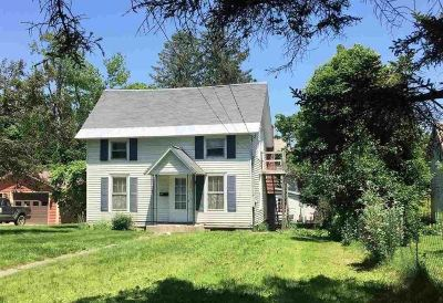 Poultney Single Family Home For Sale: 334 Bentley Avenue