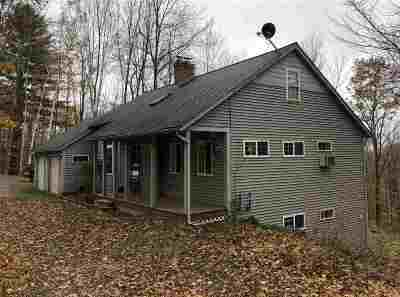 Chittenden County Single Family Home For Sale: 1389 Notch Road