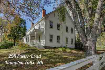 Hampton Falls Single Family Home For Sale: 298 Exeter Road