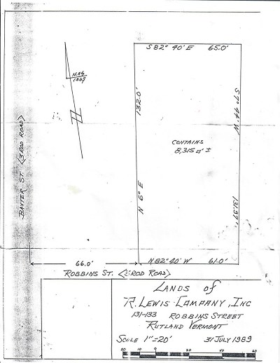 Rutland, Rutland City Residential Lots & Land For Sale: 135 Robinns Street