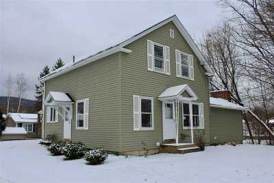 Rutland City VT Single Family Home For Sale: $185,000