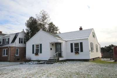 Rutland City VT Single Family Home For Sale: $139,900