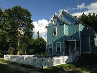Chittenden County Single Family Home Active Under Contract: 245 Loomis Street