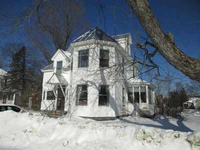 Richford Single Family Home For Sale: 42 Elm Street
