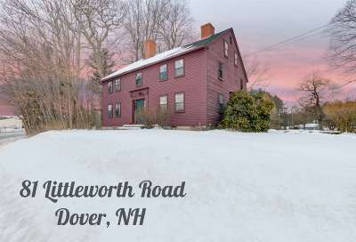 Dover Single Family Home For Sale: 81 Littleworth Road