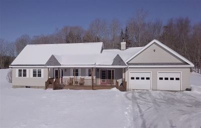 East Montpelier Single Family Home Active Under Contract: 876 Gray Road