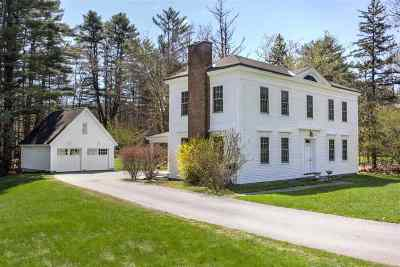 Hanover NH Single Family Home For Sale: $1,199,000