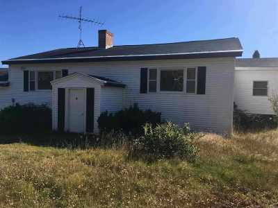 Caledonia County Single Family Home For Sale: 5491 Scott Highway