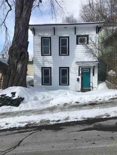 Montpelier Single Family Home Active Under Contract: 17 Charles Street