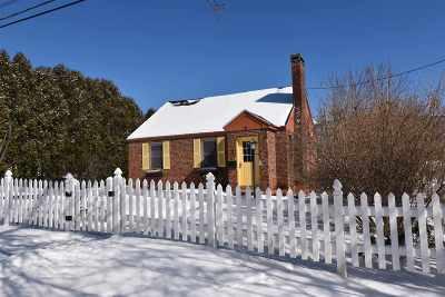 Rutland City VT Single Family Home For Sale: $178,900