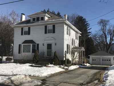 Rutland City VT Single Family Home For Sale: $189,000