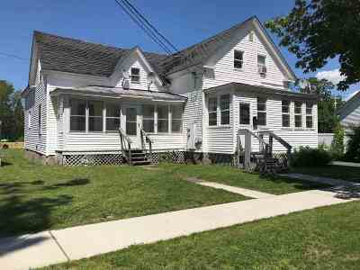 St. Albans City VT Multi Family Home For Sale: $170,000