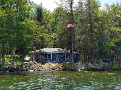 Belknap County Single Family Home For Sale: 24 Welch Island