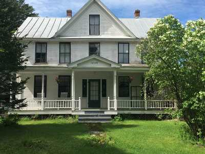 Calais Single Family Home For Sale: 4608 Vt Route 14