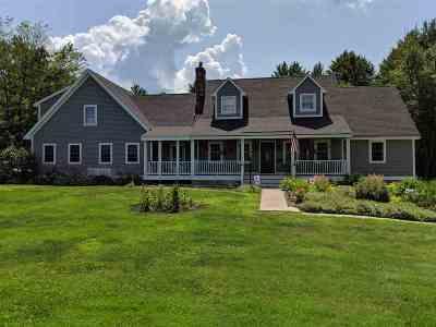 Sanbornton Single Family Home For Sale: 1031 New Hampton Road