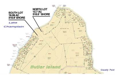 North Hero Residential Lots & Land For Sale: 01 Butler Island West