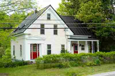 Calais Single Family Home For Sale: 4475 Vt Route 14