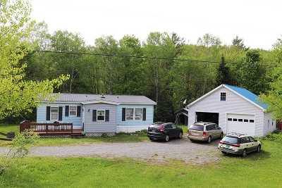 Elmore Single Family Home For Sale: 4448 Vt Rte 12