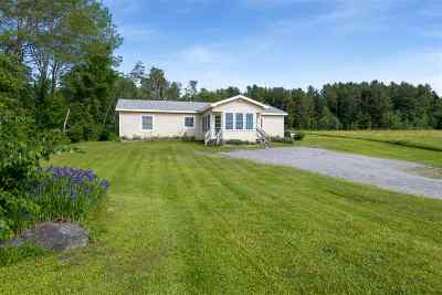 Craftsbury Single Family Home For Sale: 1787 Wild Branch Road