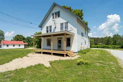 Sheldon VT Single Family Home For Sale: $219,000