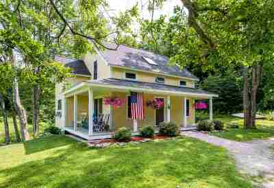 Richmond Single Family Home Active Under Contract: 3715 Hinesburg Road