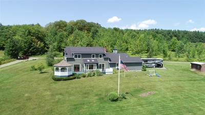 Craftsbury Single Family Home For Sale: 338 Coburn Hill Road