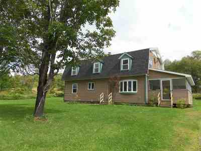 East Montpelier Single Family Home For Sale: 100 Taylor Road