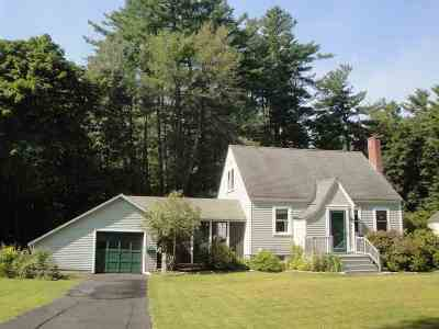 Concord NH Single Family Home Active Under Contract: $279,000