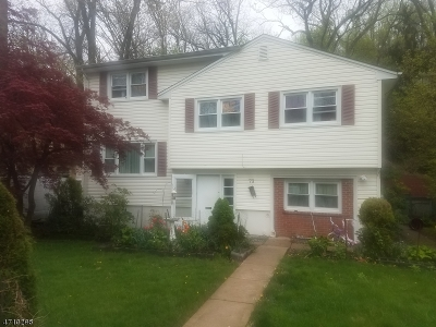 Morristown Town, Morris Twp. Single Family Home For Sale: 73 Wetmore Ave