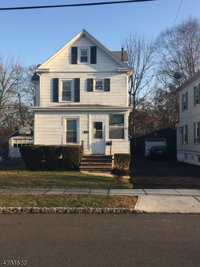 Westfield Town NJ Single Family Home For Sale: $375,999