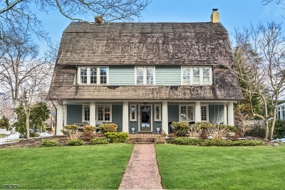 Westfield Town NJ Single Family Home For Sale: $1,428,000