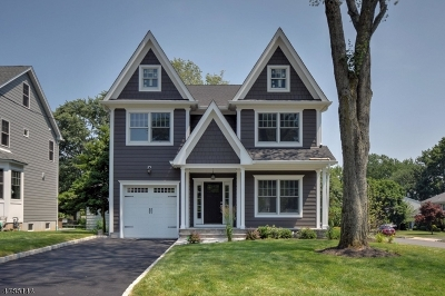 Westfield Town NJ Single Family Home For Sale: $999,000