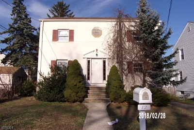 Cranford Twp. Multi Family Home For Sale: 12 Roosevelt Ave