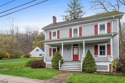 Califon Boro, Tewksbury Twp. Single Family Home Active Under Contract: 113 Philhower Ave
