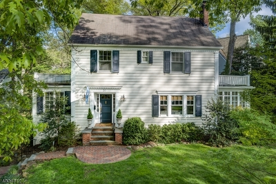 Summit Single Family Home For Sale: 20 Edgemont Ave
