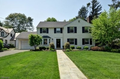 Westfield Town NJ Single Family Home For Sale: $1,089,000