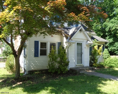 Wayne Twp. Single Family Home For Sale: 72 North Rd